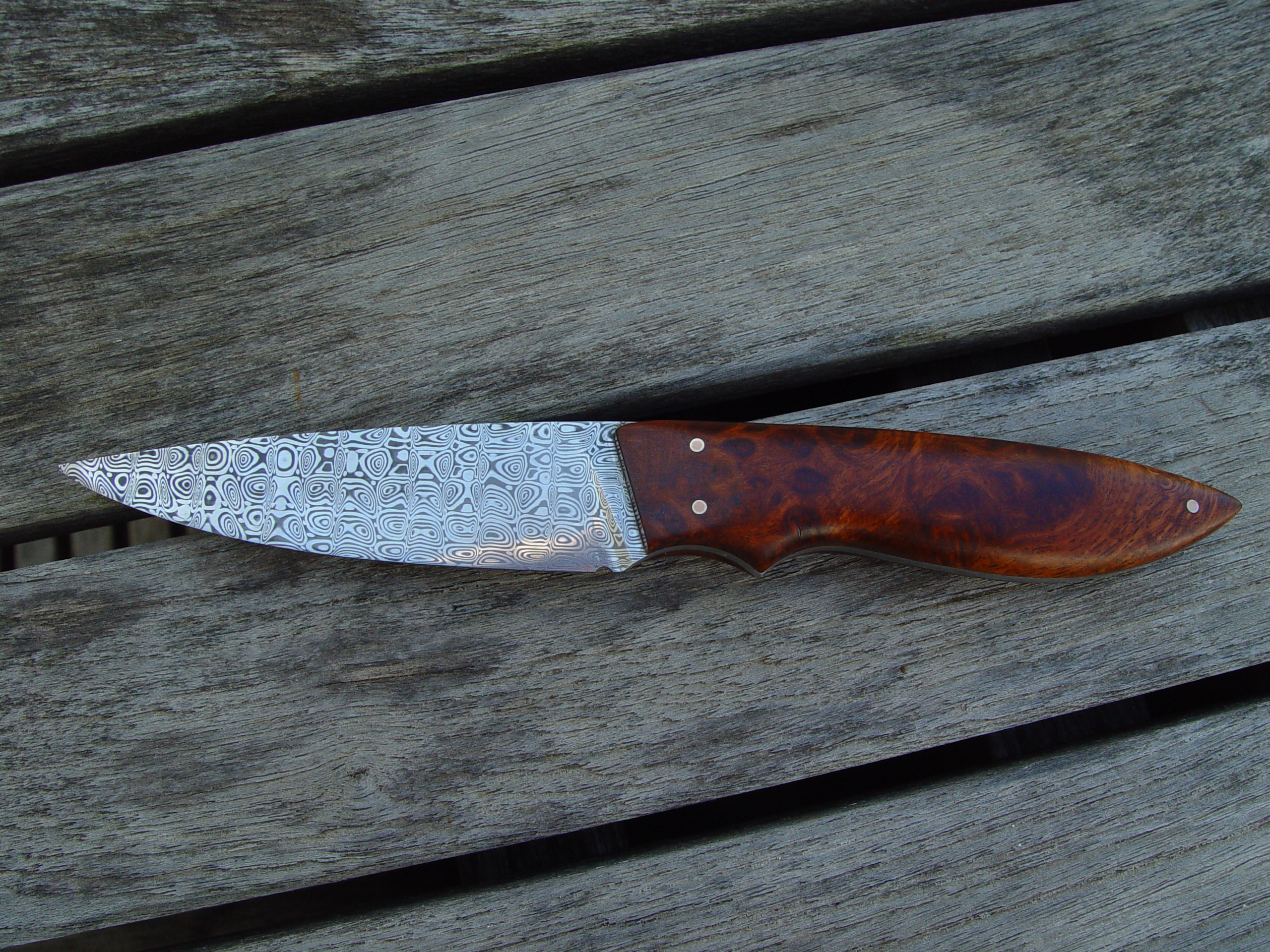 Bird and Trout with Camphor handle