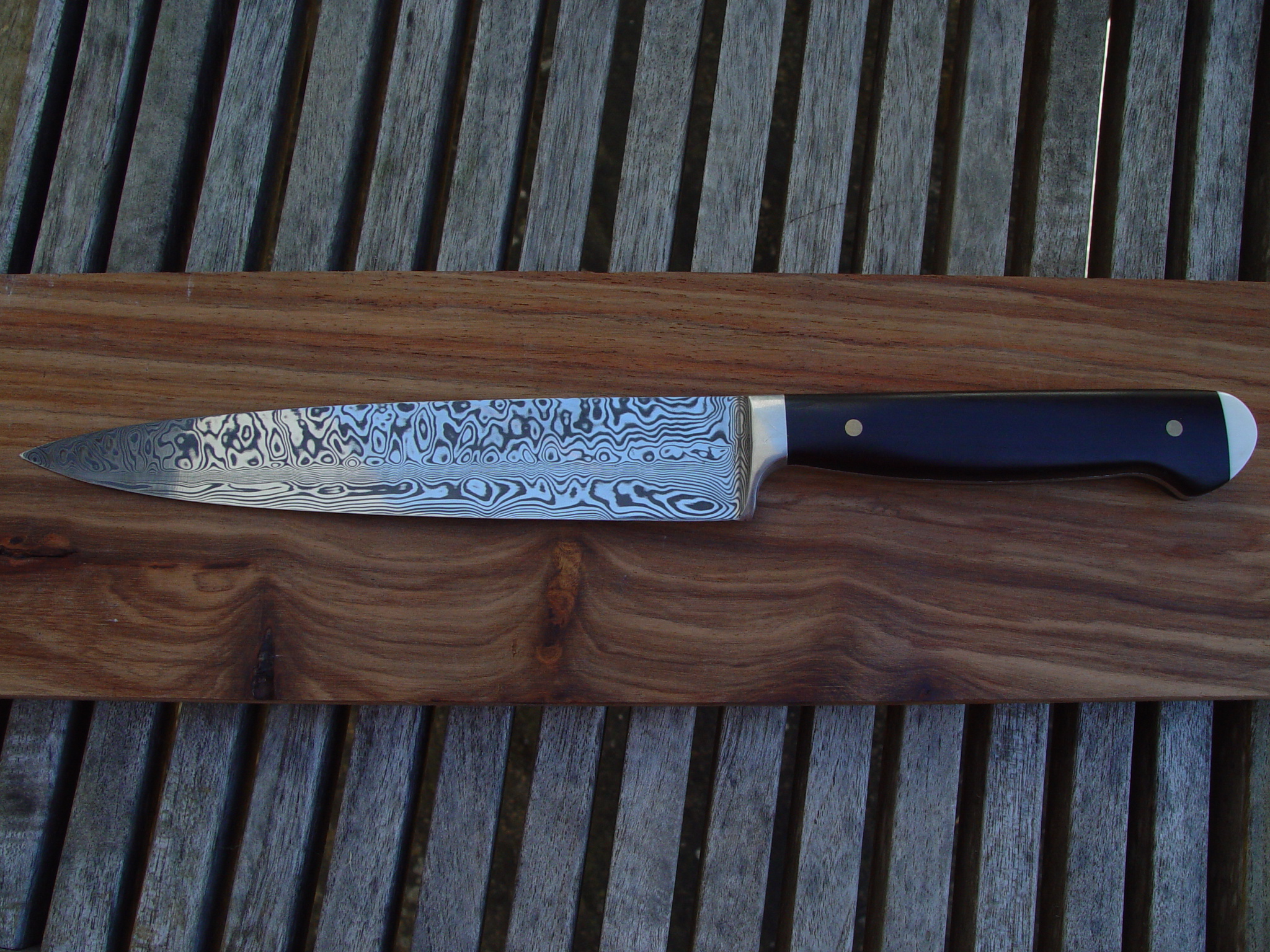 Chefs blade with Ebony handel