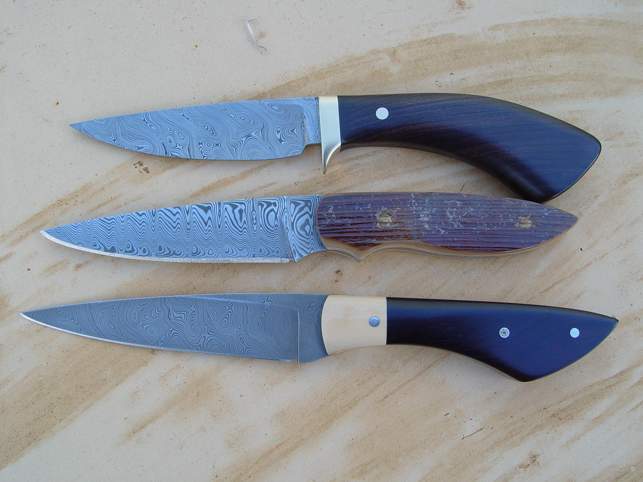 All three Bird ant Trout blades.