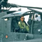 Me sitting in the AH64, Malaysia 1997