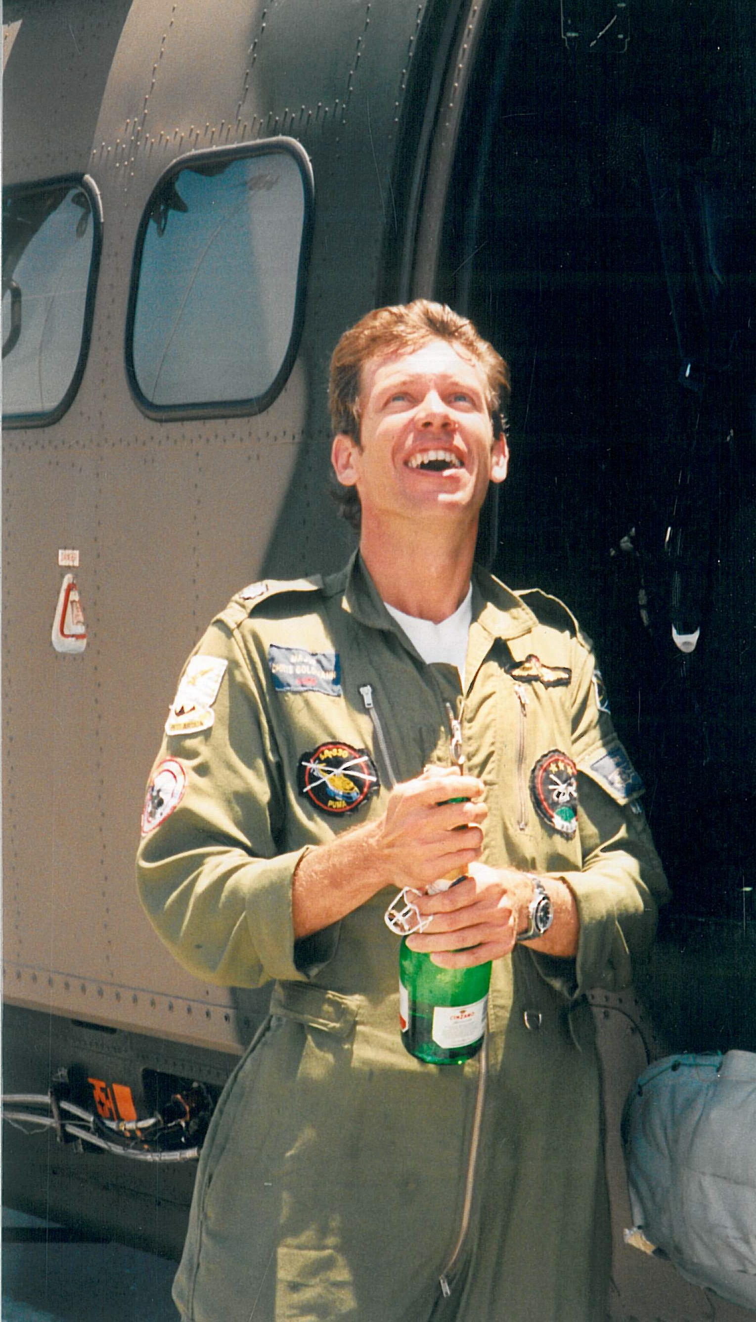 "I was presented with a bottle of bubbly by ""The Boss"" on completing that last sortie."